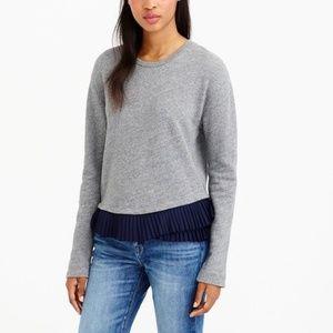 J. Crew Ruffle Hem Grey Sweatshirt, Size XS